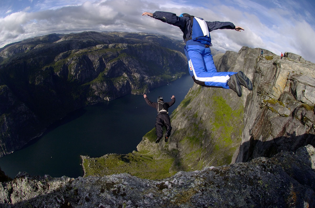 Base jumping sport extreme