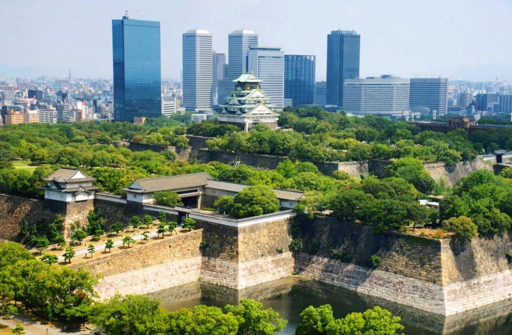 Osaka, le chateau, Japon