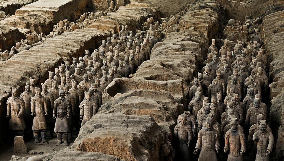 armée de terre cuite de Xi'an, Chine