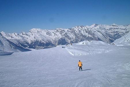 ski en suisse piste